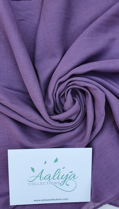 Aaliya Collections Cotton Linen Hijab - Plum