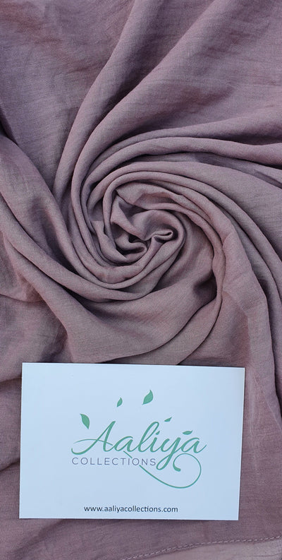 Aaliya Collections Cotton Linen Hijab - Mauve