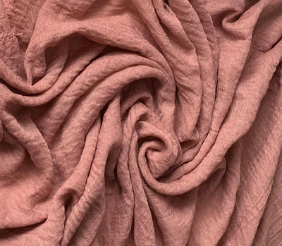 Cotton Crinkle Hijab - Dusty Pink