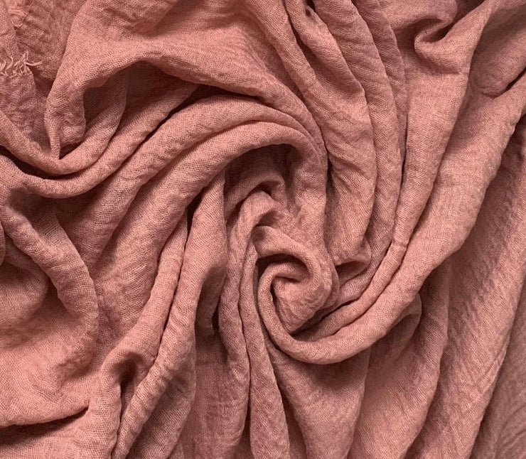 Aaliya Collections cotton crinkle dusty pink colour hijab headscarf