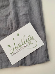 Cotton Crinkle Hijab - Grey