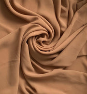 Aaliya Collections dark camel plain chiffon hijab headscarf