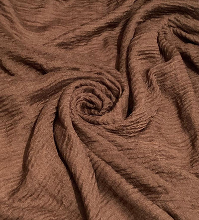 Aaliya Collections cotton crinkle brown colour hijab headscarf