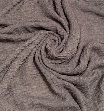 Cotton Crinkle Hijab - Charcoal Grey