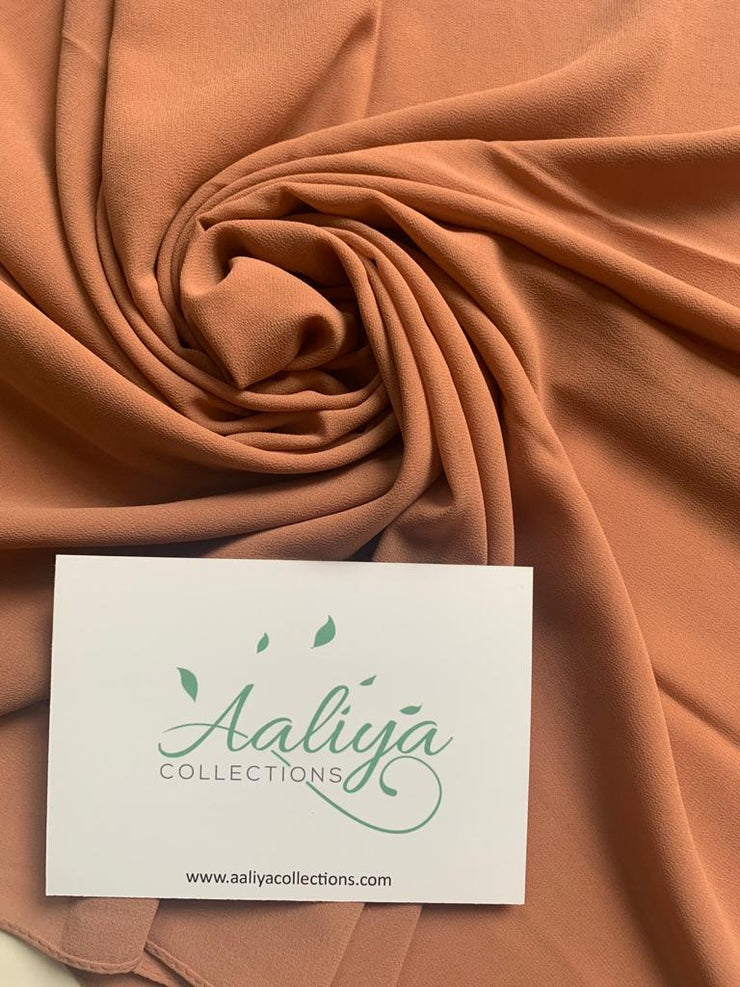 Chiffon Hijab -  Sandstone Orange