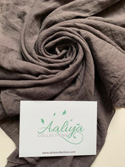Cotton Linen Hijab - Charcoal