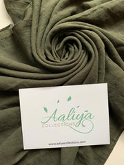 Cotton Linen Hijab - Khaki