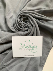 Cotton Linen Hijab - Grey