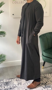 Aaliya Collections Omani Thobe - Black