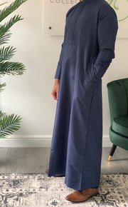 Aaliya Collections Kuwaiti Thobe - Navy Blue