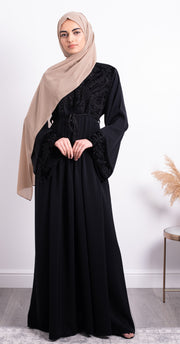 Aaliya Collections Mia Velvet Embroidered Abaya