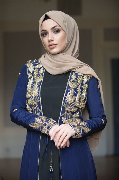 Aaliya Collections Blue embellished jacket