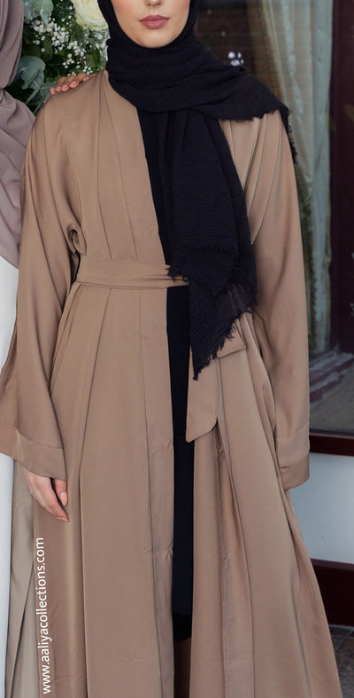 Camel Open Abaya - Ready To Dispatch