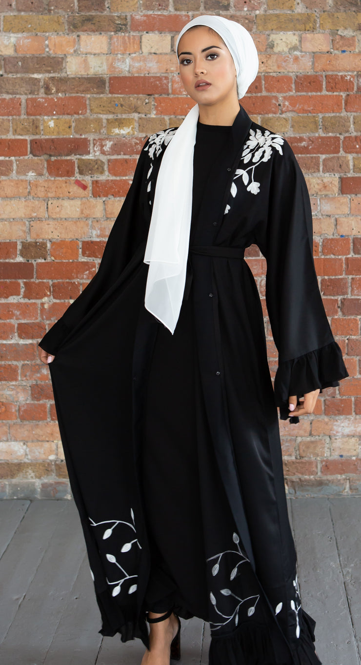 Black Frill Abaya - Ready To Dispatch