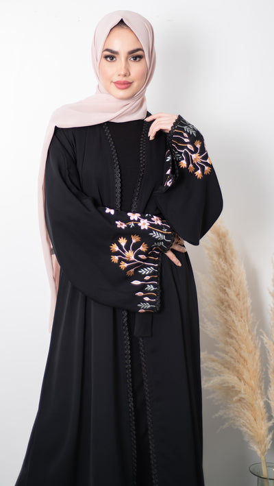 Aaliya Collections Bloom Sleeve Abaya