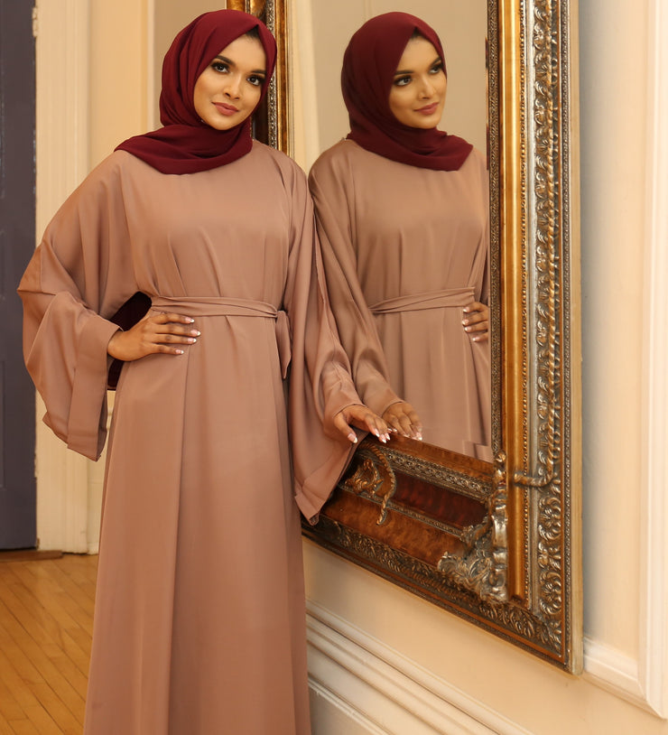 Camel Closed Abaya - Ready To Dispatch