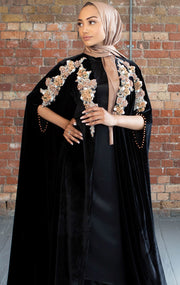 Velvet Embellished Cape - Ready To Dispatch