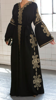 Aaliya Collections Jade Green Open Abaya A Plain Green open abaya of high quality nidha fabric