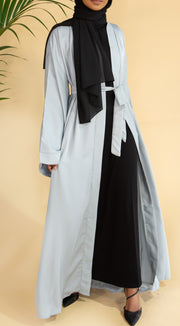 Grey Open Abaya - Ready To Dispatch