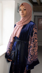 Husna Navy Abaya - Ready To Dispatch