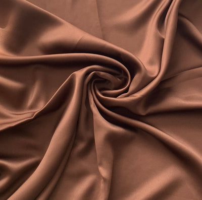 Faux Silk Hijab - Chocolate Brown