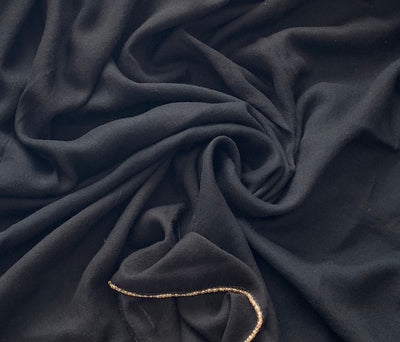 Aaliya Collections Black with Gold edging Viscose hijab headscarf