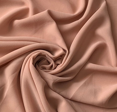 Aaliya Collections peach chiffon hijab headscarf