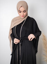 Bisht Embroidered Open Abaya