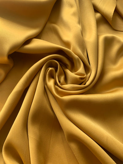 Aaliya Collections Mustard Yellow Faux Silk hijab headscarf