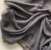 Aaliya Collections Grey with Gold edging Viscose hijab headscarf