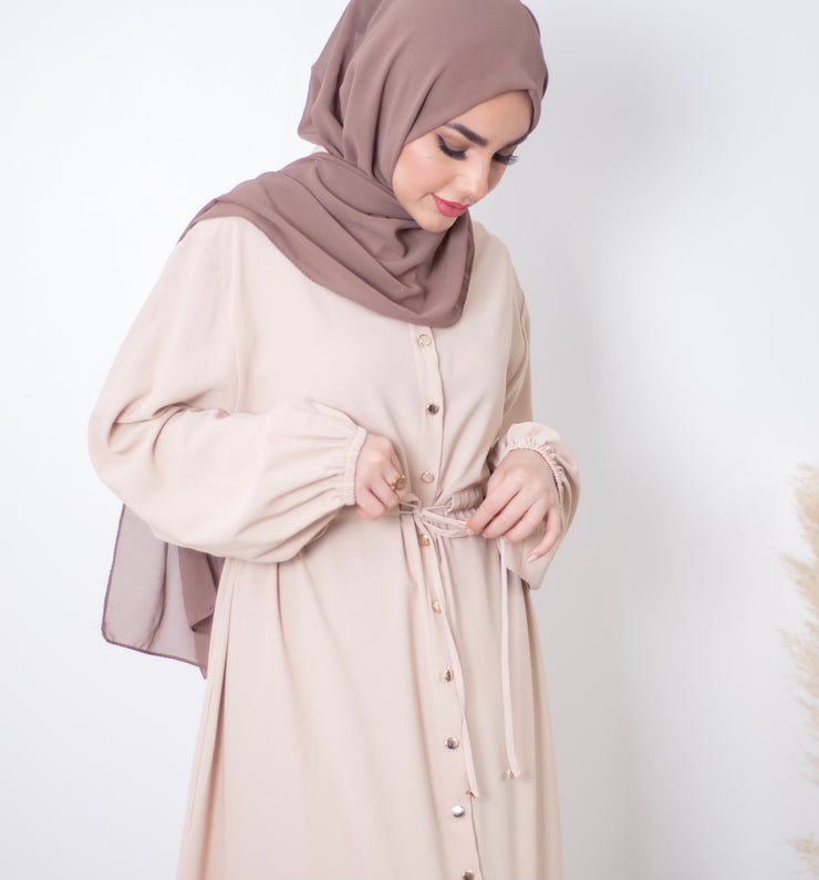 Aaliya Collections Nude Button Maxi