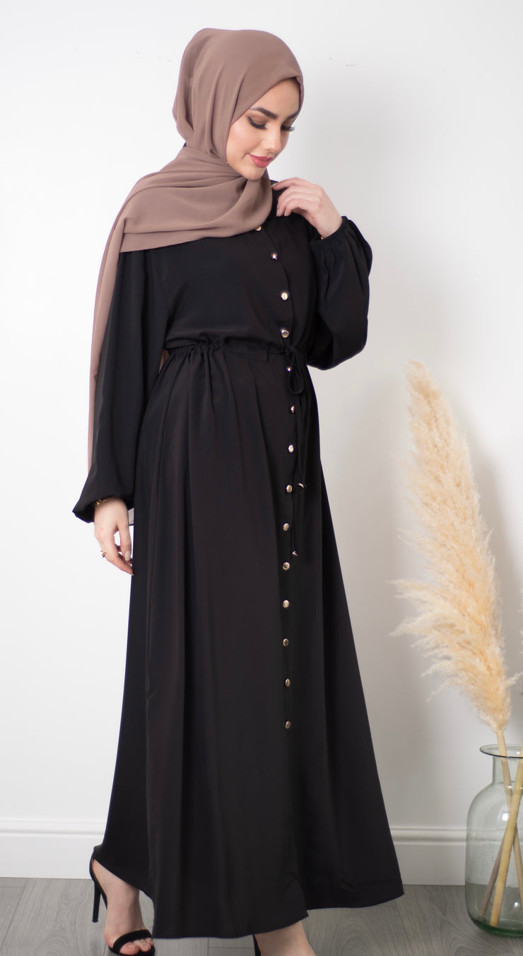 Black Button Maxi