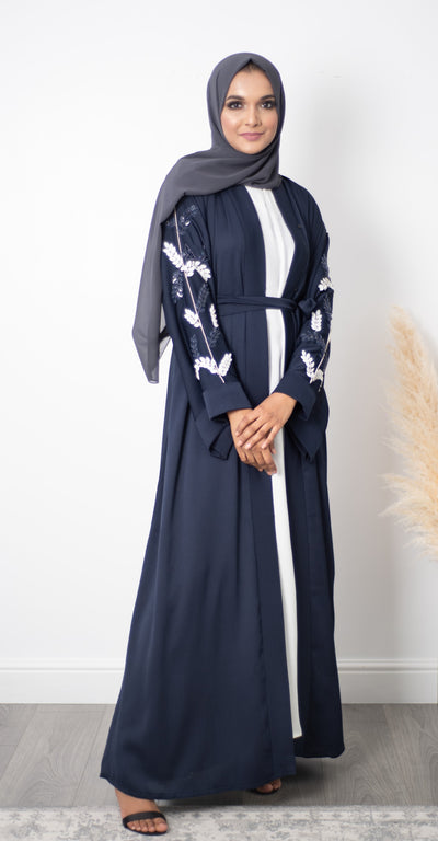 Aaliya Collections Navy Elham Abaya
