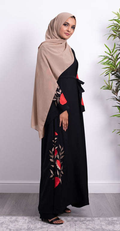 Aaliya Collections Dahlia Floral Abaya