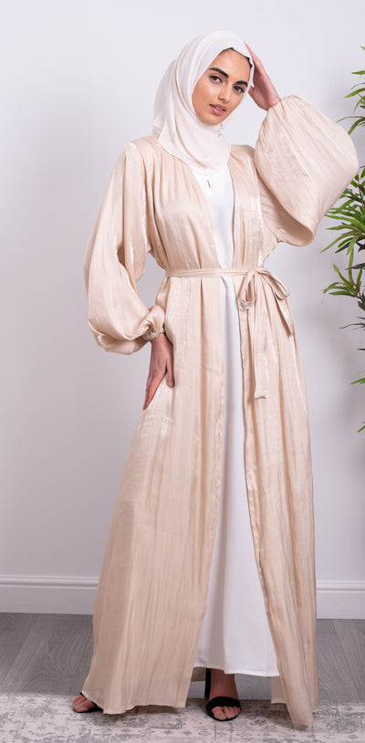 Aaliya Collections Nude Shimmer Abaya