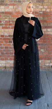 Tulle Pearl Abaya - Ready To Dispatch