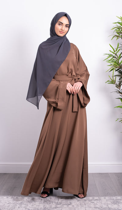 Taupe Closed Abaya - Ready To Dispatch