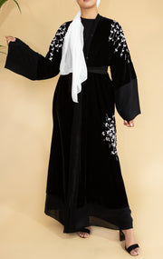 Velvet Leaf Abaya- Ready To Dispatch