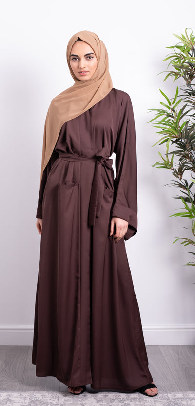 Aaliya Collections Walnut Pocket Abaya