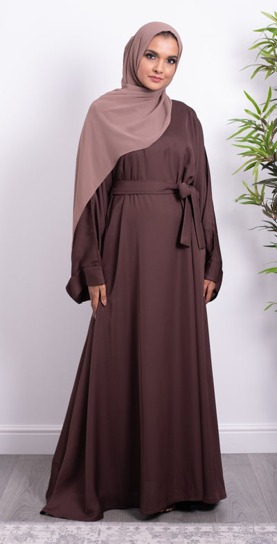 Aaliya Collections Walnut Closed Abaya