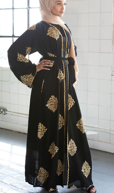 Black Yadira Abaya - Ready To Dispatch