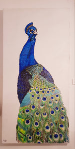 Mr Peacock Hand Painted Original Canvas