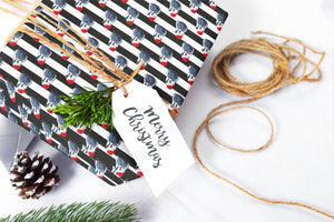 Christmas Badger Gift Wrap Sheet