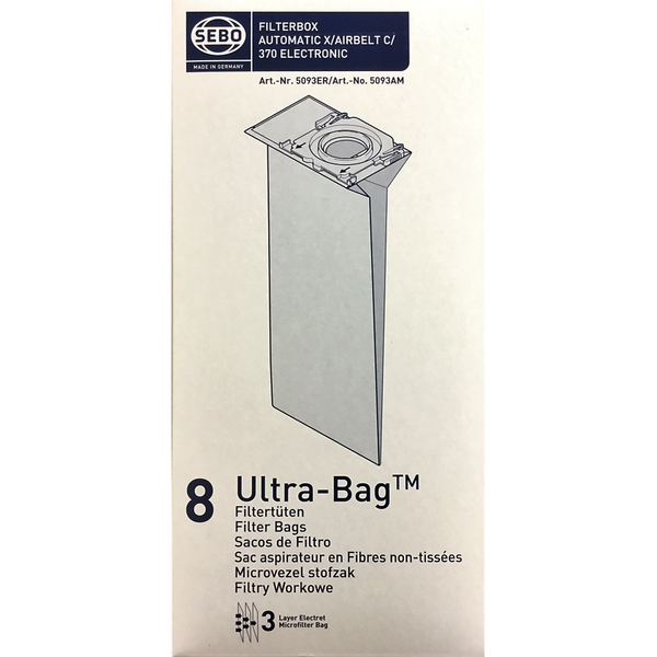 Sebo vacuum cleaner dust bag suitable for AUTOMATIC X/AIRBELT C/370 ELECTRONIC cleaners - Stamford My Shop is Local