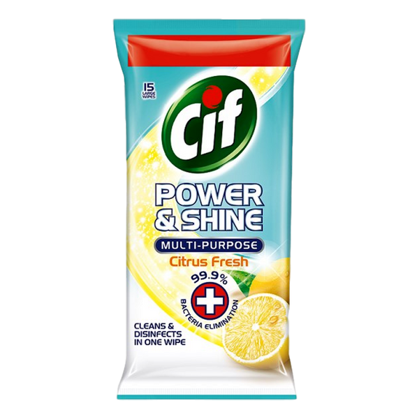 CIF Multi Purpose Wipes Citrus 15 - Stamford My Shop is Local