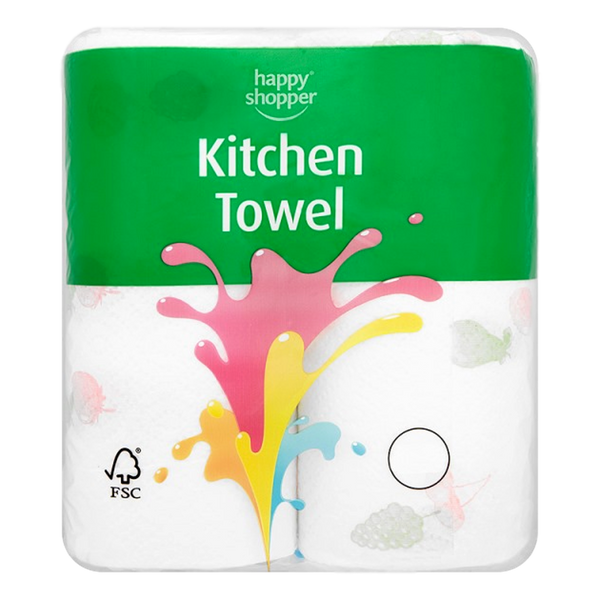Happy Shopper  Kitchen Towel 2 Rolls - Stamford My Shop is Local