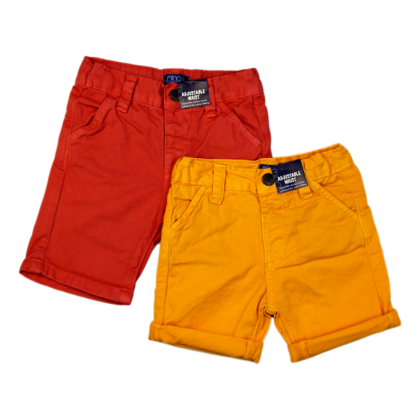 Minoti Shorts - Orange or Mustard - Stamford My Shop is Local