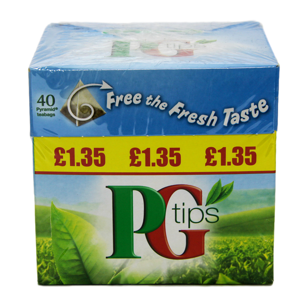 PG tips 40 Pyramid Tea Bags - Stamford My Shop is Local