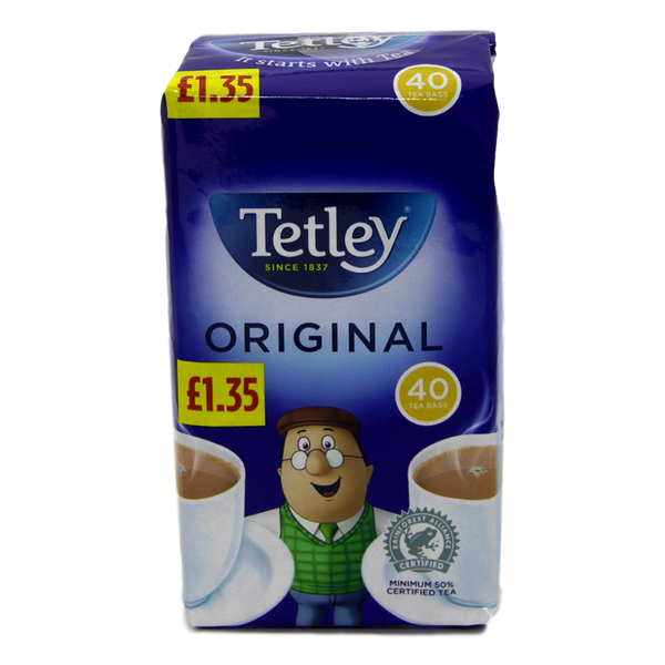 Tetley Original 40 Tea Bags - Stamford My Shop is Local