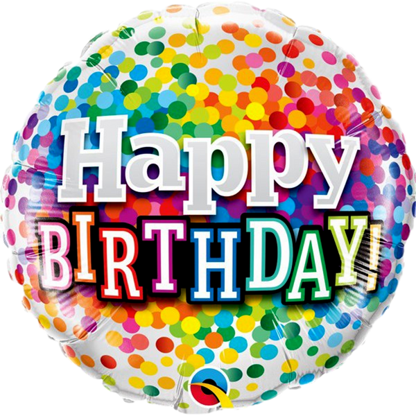 "Confetti Birthday 18"" Foil Balloon - Stamford My Shop is Local"